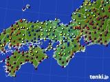 近畿地方のアメダス実況(日照時間)(2020年02月09日)