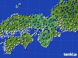 2020年02月09日の近畿地方のアメダス(気温)