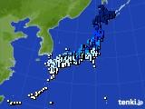 アメダス実況(気温)(2020年02月09日)