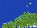 島根県のアメダス実況(気温)(2020年02月09日)