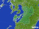 2020年02月09日の熊本県のアメダス(気温)