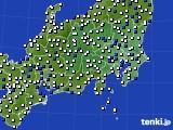 関東・甲信地方のアメダス実況(風向・風速)(2020年02月09日)