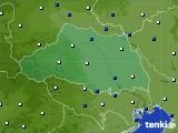埼玉県のアメダス実況(風向・風速)(2020年02月09日)