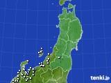 東北地方のアメダス実況(降水量)(2020年02月10日)