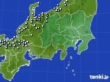 関東・甲信地方のアメダス実況(降水量)(2020年02月10日)