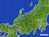 北陸地方のアメダス実況(降水量)(2020年02月10日)