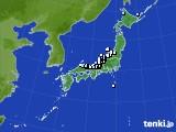 アメダス実況(降水量)(2020年02月10日)