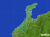 石川県のアメダス実況(降水量)(2020年02月10日)