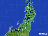 東北地方のアメダス実況(積雪深)(2020年02月10日)