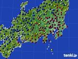 関東・甲信地方のアメダス実況(日照時間)(2020年02月10日)