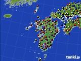 九州地方のアメダス実況(日照時間)(2020年02月10日)