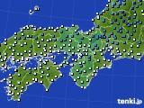 近畿地方のアメダス実況(気温)(2020年02月10日)