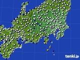 関東・甲信地方のアメダス実況(風向・風速)(2020年02月10日)