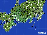 2020年02月10日の東海地方のアメダス(風向・風速)