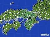 近畿地方のアメダス実況(風向・風速)(2020年02月10日)