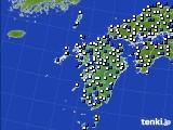 九州地方のアメダス実況(風向・風速)(2020年02月10日)