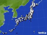 アメダス実況(風向・風速)(2020年02月10日)
