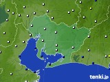 愛知県のアメダス実況(風向・風速)(2020年02月10日)