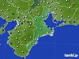 三重県のアメダス実況(風向・風速)(2020年02月10日)