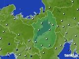 滋賀県のアメダス実況(風向・風速)(2020年02月10日)