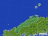 島根県のアメダス実況(風向・風速)(2020年02月10日)
