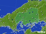 広島県のアメダス実況(風向・風速)(2020年02月10日)