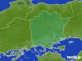 岡山県のアメダス実況(降水量)(2020年02月11日)