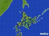 北海道地方のアメダス実況(積雪深)(2020年02月11日)