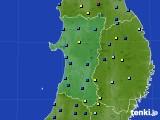 秋田県のアメダス実況(積雪深)(2020年02月11日)