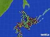 北海道地方のアメダス実況(日照時間)(2020年02月11日)