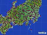 関東・甲信地方のアメダス実況(日照時間)(2020年02月11日)