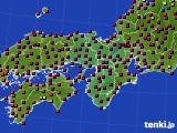 近畿地方のアメダス実況(日照時間)(2020年02月11日)