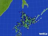 北海道地方のアメダス実況(気温)(2020年02月11日)