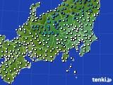 関東・甲信地方のアメダス実況(気温)(2020年02月11日)