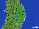 岩手県のアメダス実況(気温)(2020年02月11日)