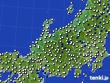 北陸地方のアメダス実況(風向・風速)(2020年02月11日)