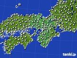 近畿地方のアメダス実況(風向・風速)(2020年02月11日)