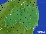福島県のアメダス実況(風向・風速)(2020年02月11日)