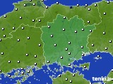 岡山県のアメダス実況(風向・風速)(2020年02月11日)