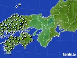 近畿地方のアメダス実況(降水量)(2020年02月12日)