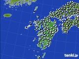 九州地方のアメダス実況(降水量)(2020年02月12日)