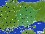 岡山県のアメダス実況(降水量)(2020年02月12日)
