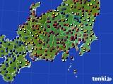 関東・甲信地方のアメダス実況(日照時間)(2020年02月12日)