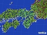 近畿地方のアメダス実況(日照時間)(2020年02月12日)