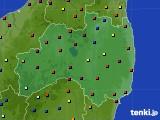 福島県のアメダス実況(日照時間)(2020年02月12日)