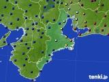 2020年02月12日の三重県のアメダス(日照時間)