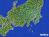 関東・甲信地方のアメダス実況(気温)(2020年02月12日)