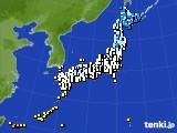アメダス実況(気温)(2020年02月12日)