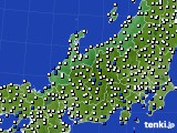 北陸地方のアメダス実況(風向・風速)(2020年02月12日)