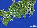 東海地方のアメダス実況(風向・風速)(2020年02月12日)